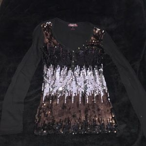 rock and roll cowgirl sequin shirt